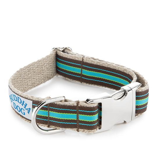 Buddha Dog Compo Stripe Collar ( Blue )