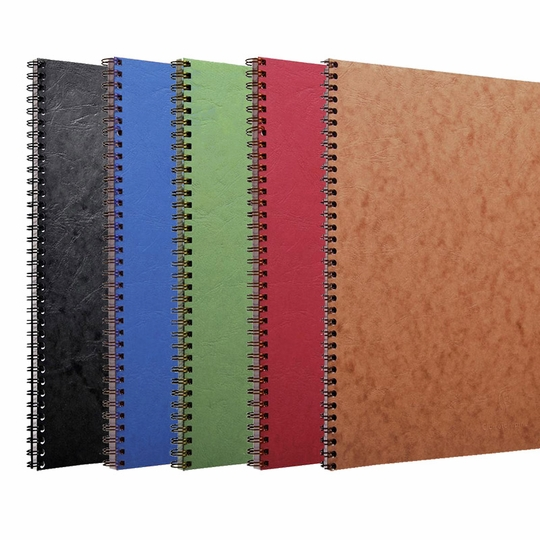 Clairefontaine Basics A4 Spiral Bound Notebook (8.25 x 11.75) ( Black )