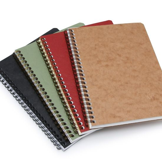 Clairefontaine Basics Large Spiral Bound Notebook (6 x 8.25) ( Red )