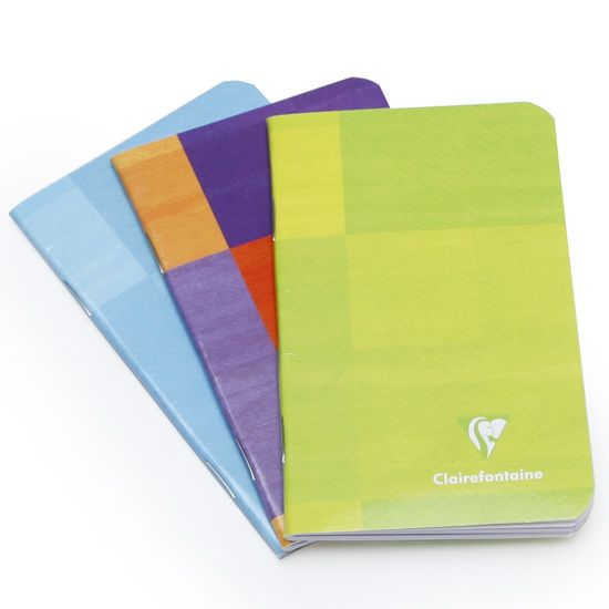 Clairefontaine Classic Mini Side Staple Bound Notebook (3 x 4) ( Ruled (lined pages) [3586] )
