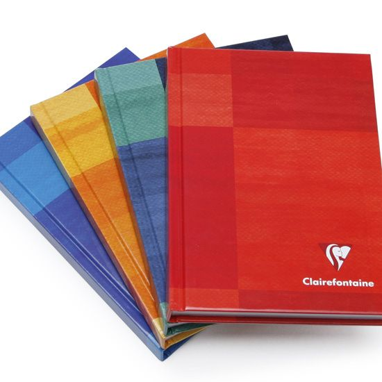 Clairefontaine Pocket Plain Hard Cover Notebook (4.25 x 5.75) ( Plain (blank pages) [69490] )