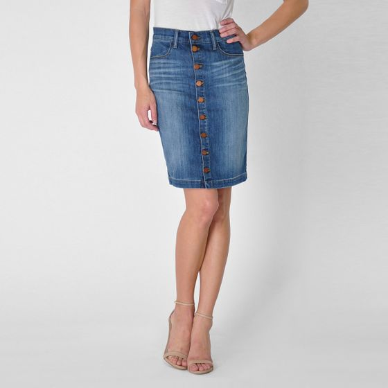 Fidelity Denim Collette Skirt ( Dark Vintage )