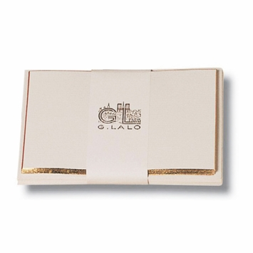 G. Lalo Bevel-Edged Gold Embossed Cards/Envelopes (3.5 x 5.25) in Ivory