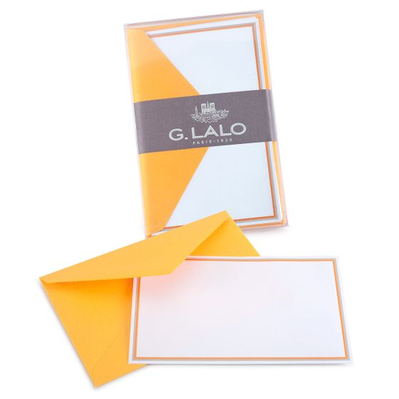 G. Lalo Double Bordered Correspondence Sets (3.25 x 5.25) ( Melon )