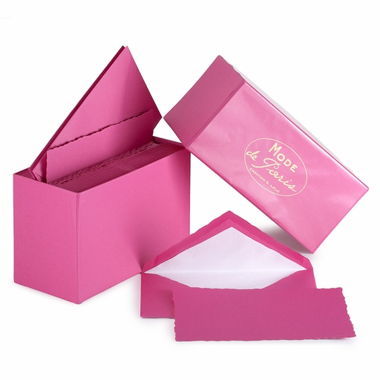 G. Lalo Mode de Paris Boxed Stationery (3.75 x 6) ( Raspberry )