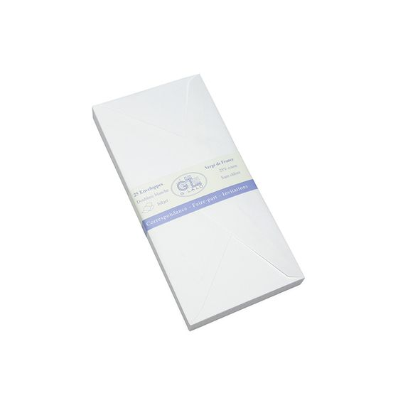 G. Lalo Verge de France Large Envelopes (4.25 x 8.5) ( White )