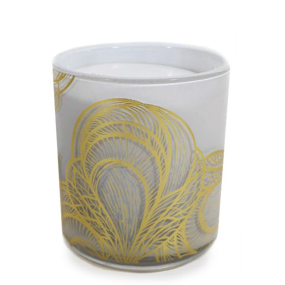 Jordan Carlyle White Candle ( Mustique (Linen and Rose) )
