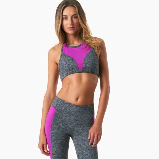 Koral Rapid Sports Bra ( Heather Grey/Orchid )