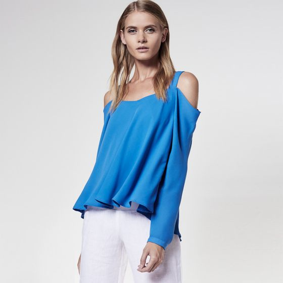 Krisa Off Shoulder Blouse ( Fountain )