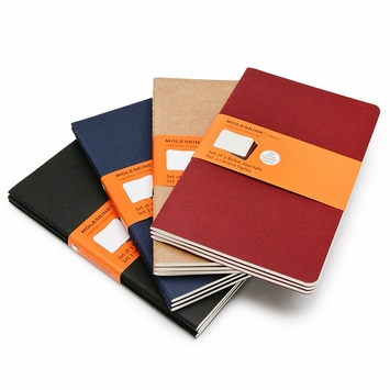 Moleskine Cahier Large Notebooks (5 x 8.25) (set of 3) in Black
