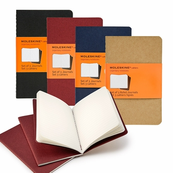 Moleskine Cahier Pocket Notebooks (3.5 x 5.5) (set of 3)