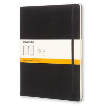 Moleskine Classic Extra Large Hard Cover Notebook (7.5 x 9.75) in Black