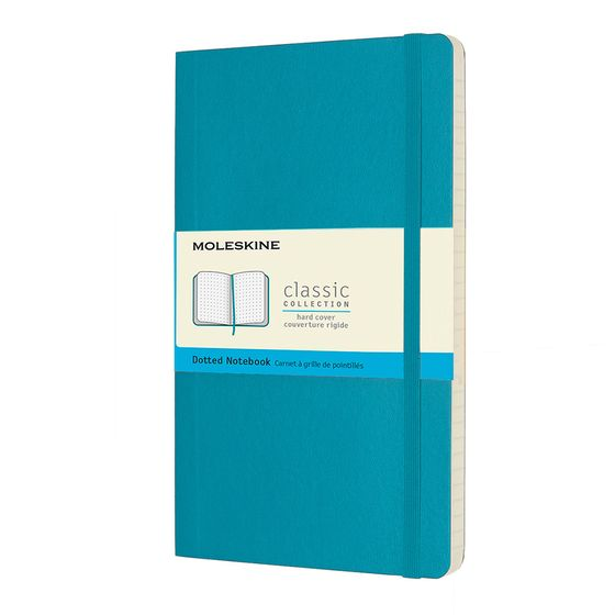 Moleskine Classic Large Soft Cover Notebook (5 x 8.25) ( Underwater Blue )