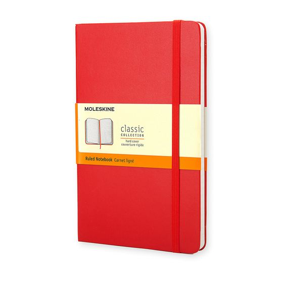 Moleskine Classic Pocket Hard Cover Notebook (3.5 x 5.5) ( Red )