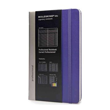 Moleskine Professional Large Hard Cover Notebook (5 x 8.25) in Brilliant Violet
