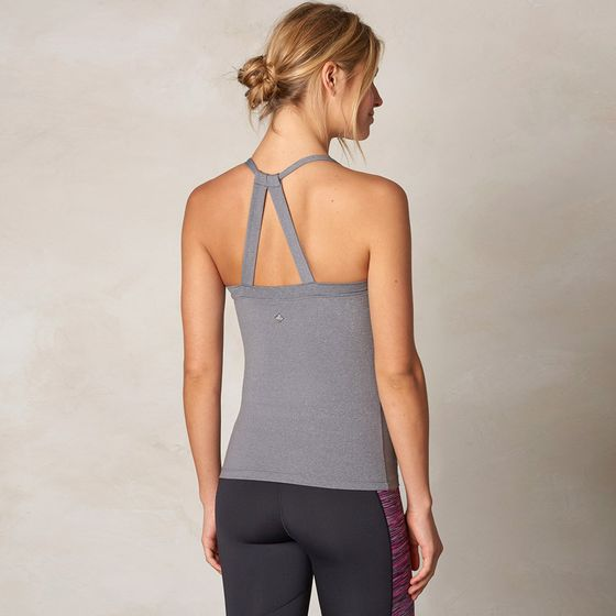Prana Quinn Chakara Tank Top ( Heather Grey )