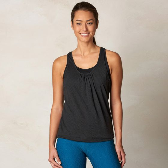 Prana Mika Double Layer Racer Tank ( Black )