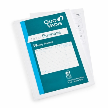 Quo Vadis 2022 Business Weekly Planner Refill #04 (Ref 0401) (4 x 6)