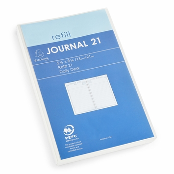 Exacompta 2021 Journal 21 Daily Planner Refill (Ref. #2201) (5.25 x 8.25)