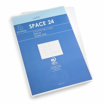 Exacompta 2020 Space 24 Weekly Planner Refill (Ref. #2301) (6.25 x 9.375)