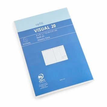 Exacompta 2020 Visual Weekly Planner Refill (Ref. #2001) (6 x 8.25)