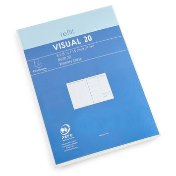 Quo Vadis 2022 Visual Weekly Planner Refill (Ref. #2001) (6 x 8.25)