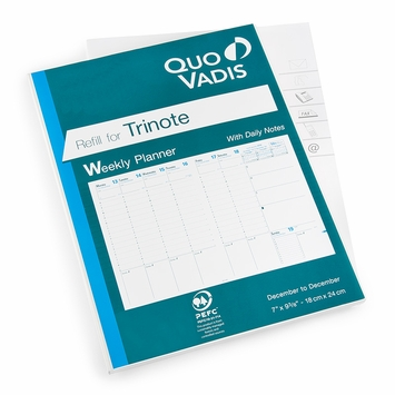 Quo Vadis 2020 Trinote Weekly Planner Refill #48 (Ref. #4801) (7 x 9.375)