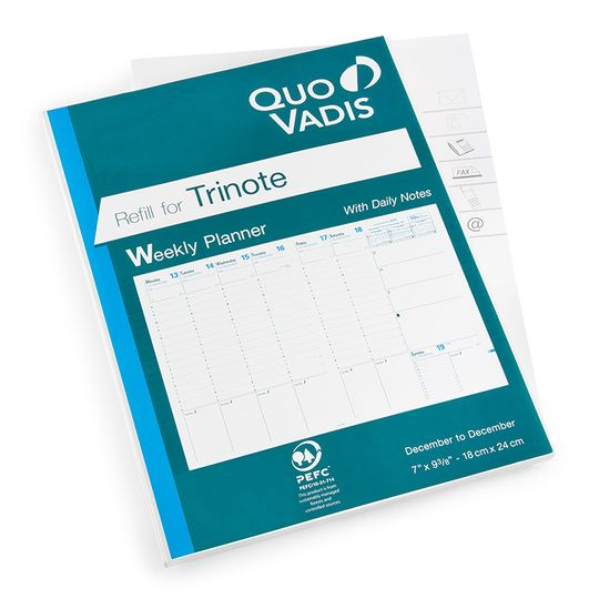 Quo Vadis 2019 Trinote Weekly Planner Refill #48 (Ref. #4801) (7 x 9.375)