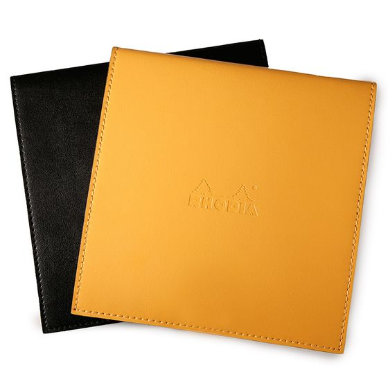 Rhodia Leatherette No. 210 Square Reverse Notepad Holder (8.25 x 8.25) ( Black [R118319] )