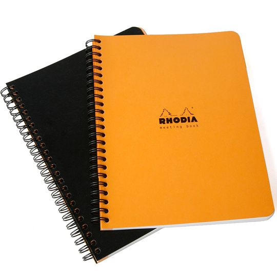 Rhodia Side Spiral Bound A5+ Meeting Book (6.5 x 8.25)