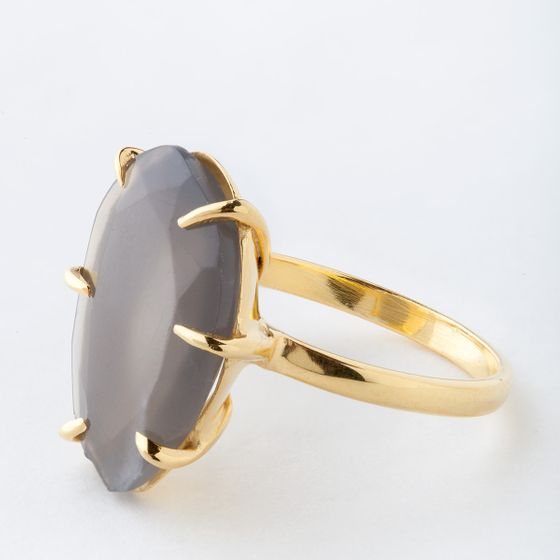 Roost Gray Moonstone Faceted Ring ( 6 )