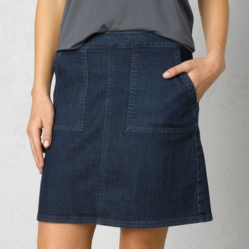 Organic Prana Kara Denim Skirt in Indigo