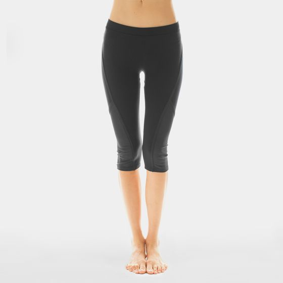 Solow Cropped Side Mesh Legging ( Black )