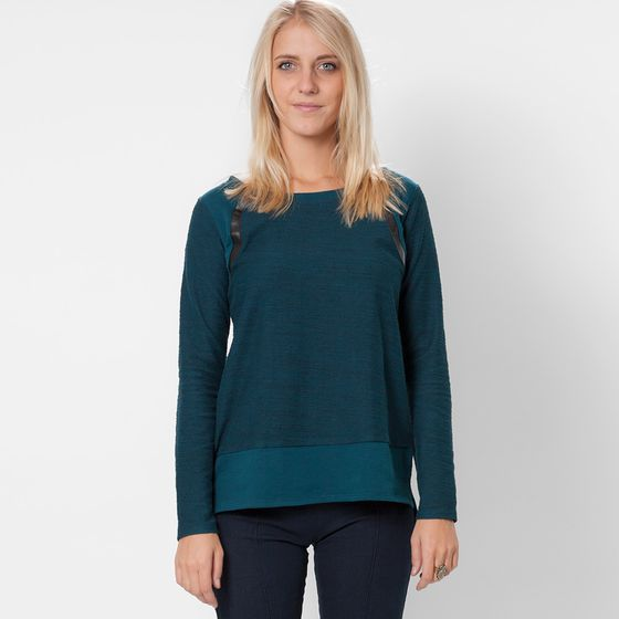 Solow Quilted Moto Sweatshirt ( Cerulean/Black )