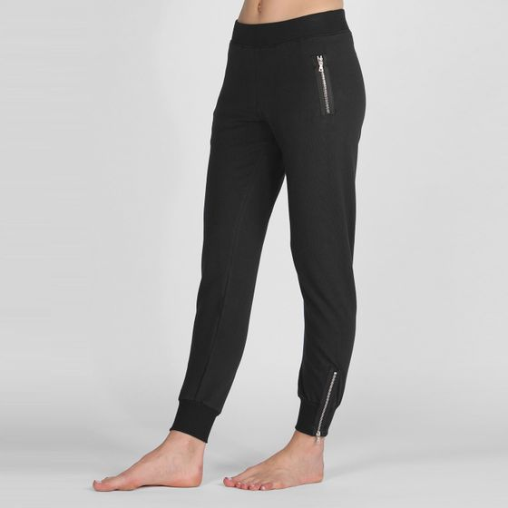 Solow Zippered Jogger ( Black )