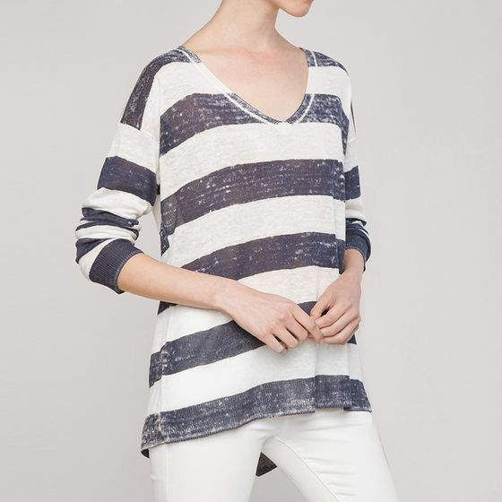 Splendid Southhampton Sweater ( Natural/ Navy )