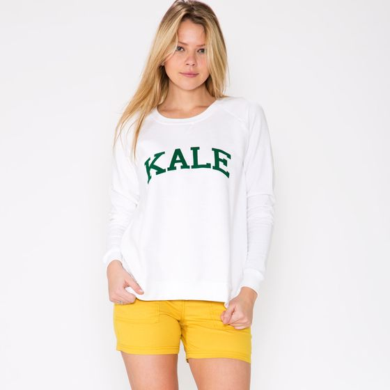 Sub Urban Riot Women's Kale Sweatshirt ( White/Green )