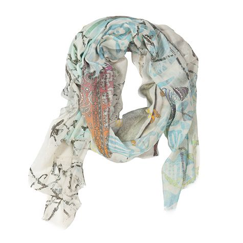 Tilo Printed Scarf ( Butterfly )