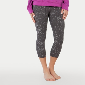 Bamboo Tonic Bliss Cropped Legging in Gun Metal