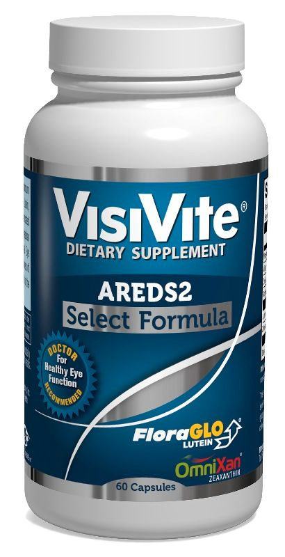 VisiVite® AREDS 2 Select Gentle Zinc Formula Veg Caps with Natural Lutein  and Zeaxanthin - one month supply