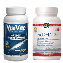 VisiVite® AREDS2 Zinc-Free White and Nordic Naturals® ProDHA 1000 Bundle - 1 month supply