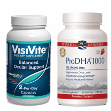 VisiVite® Balanced Ocular Support and Nordic Naturals® ProDHA-1000 Bundle - 1 month supply