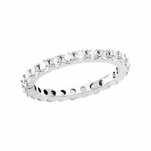 1 1/2 ct tw Diamond & Platinum Eternity Band Available in Size 6 1/2, 7 or 8