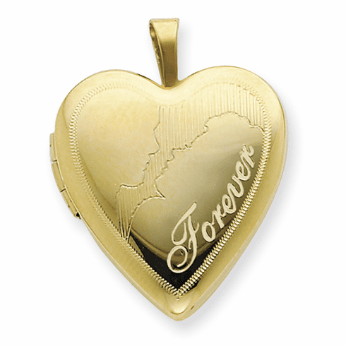 1/20 Gold Filled 20mm Man & Woman Forever Heart Locket