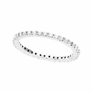 1/2ct  Diamond and Platinum Eternity Band Available in Size 5 1/2,  6, 6 1/2,7, 7 1/2 or 8