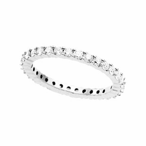 1 ct tw Diamond & Platinum Eternity Band Available in Size 5, 7 or 8 1/2
