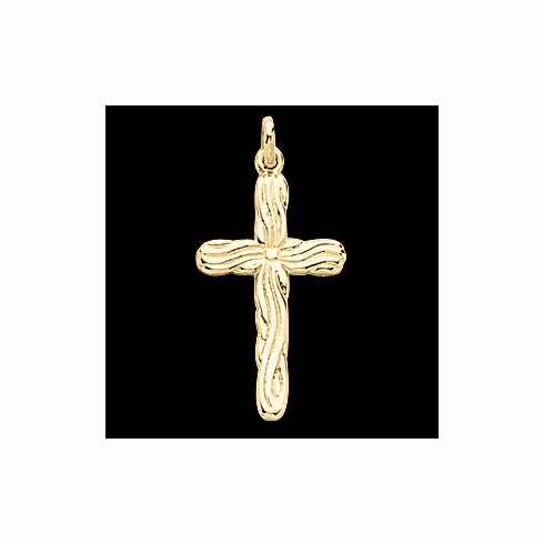 14 k Gold Cross Pendant W/ Design