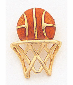 14K BASKETBALL NET PENDANT