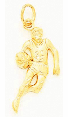 14K BASKETBALL PLAYER CHARM