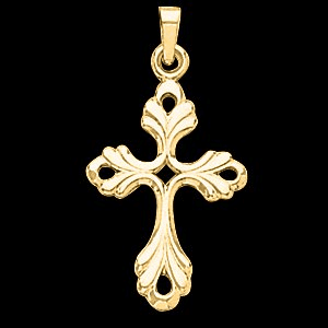 14k Design Gold Cross Pendant